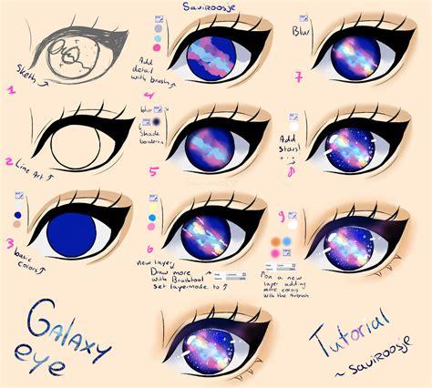 paint tool sai galaxy tutorial step by step galaxy eye tutorial by saviroosje on deviantart
