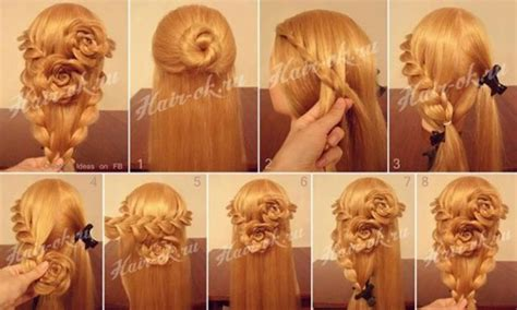 step by step guide to a beauitful hairstyle how to do pretty flower braid hairstyles step by step diy