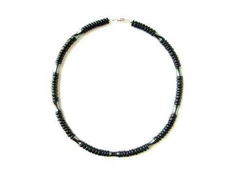 mens beaded necklace matter s beaded hematite necklace authentic