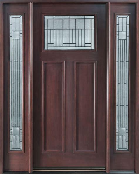 mahogany front door front door custom single with 2 sidelites solid wood