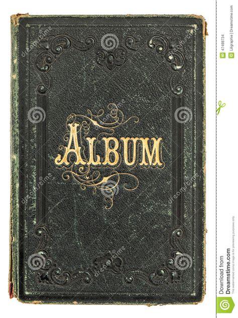 picture book album antique book with golden decoration vintage photo album