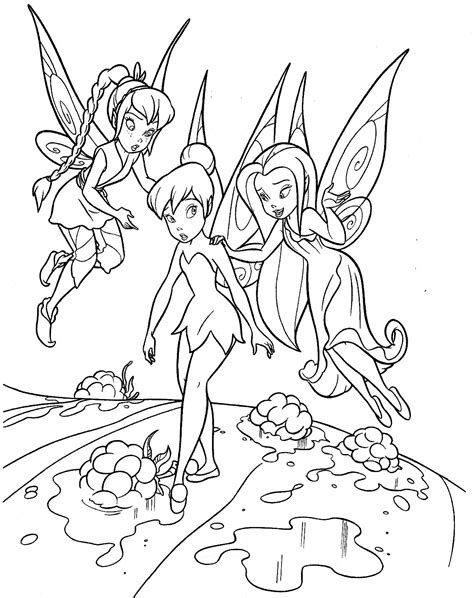 free coloring pages of tinkerbell