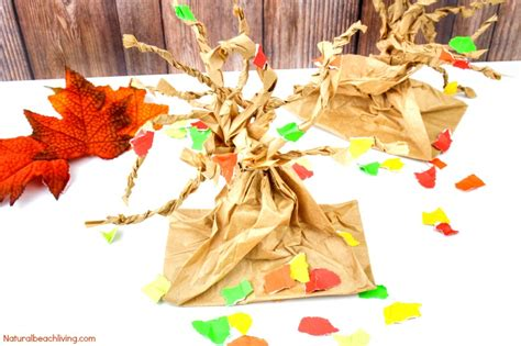 fall paper crafts for fall tree paper bag crafts living