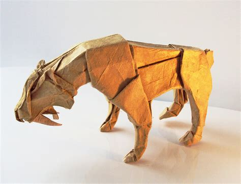 advanced origami tiger the origami animals of matthieu georger 171 twistedsifter