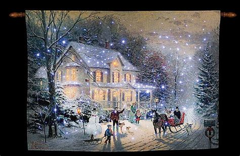 home for the holidays fiber optic tapestry wall