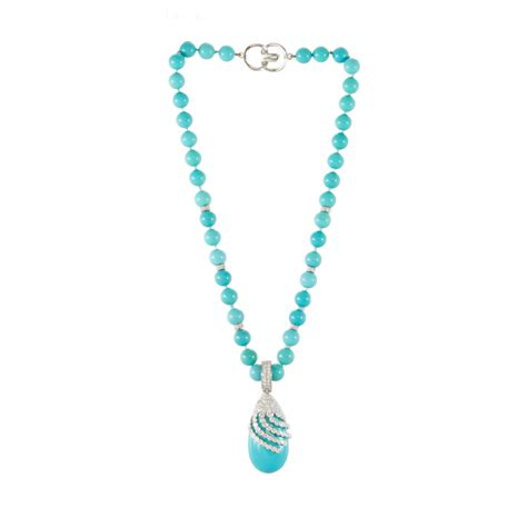 Turquoise Gold Beaded Necklace Miriams Jewelry