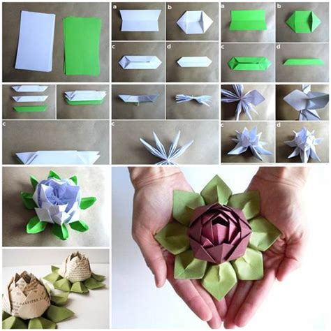 how to make origami lotus flower diy origami lotus flower