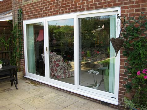white in line patio door 3 panel dm windows