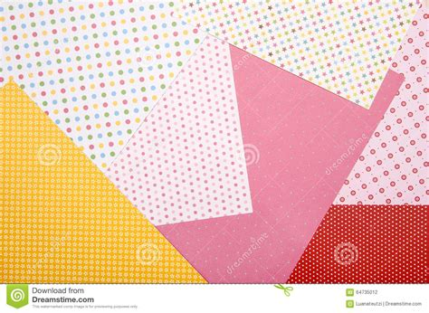 craft paper pattern color craft paper with different patterns stock photo