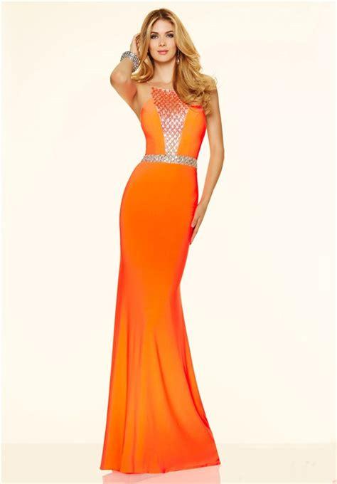 orange beaded dress gorgeous mermaid orange beaded evening prom dress