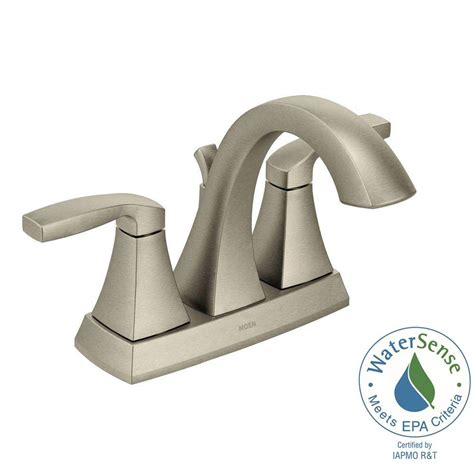 moen kitchen faucet brushed nickel moen voss 4 in centerset 2 handle bathroom faucet in