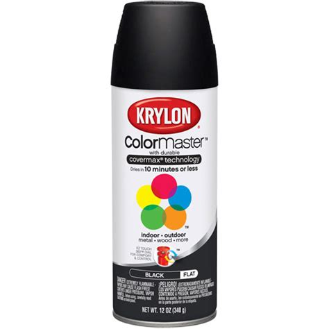 spray paint at krylon colormaster flat black walmart