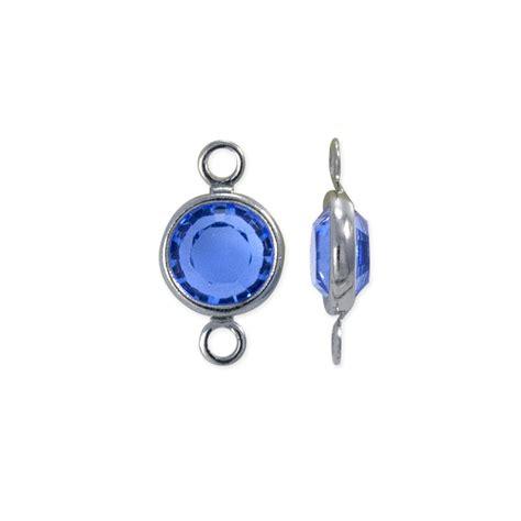 swarovski jewelry supplies swarovksi channel 6mm sapphire rhodium