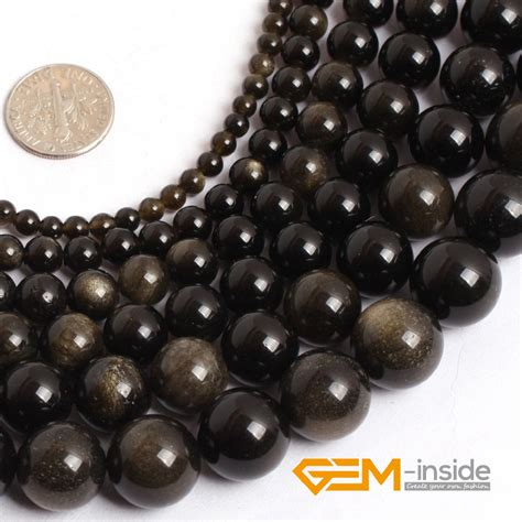 how big is 4mm bead aliexpress buy gold obsidian 4mm to