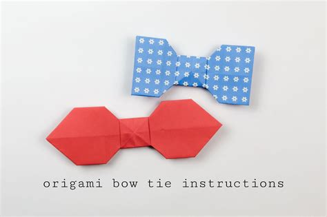 how to make an origami tie easy origami bow tie tutorial