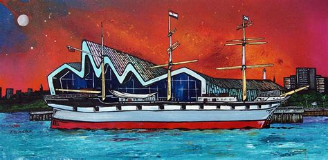 paint nite riverside glasgow painting prints riverside museum kelvingrove