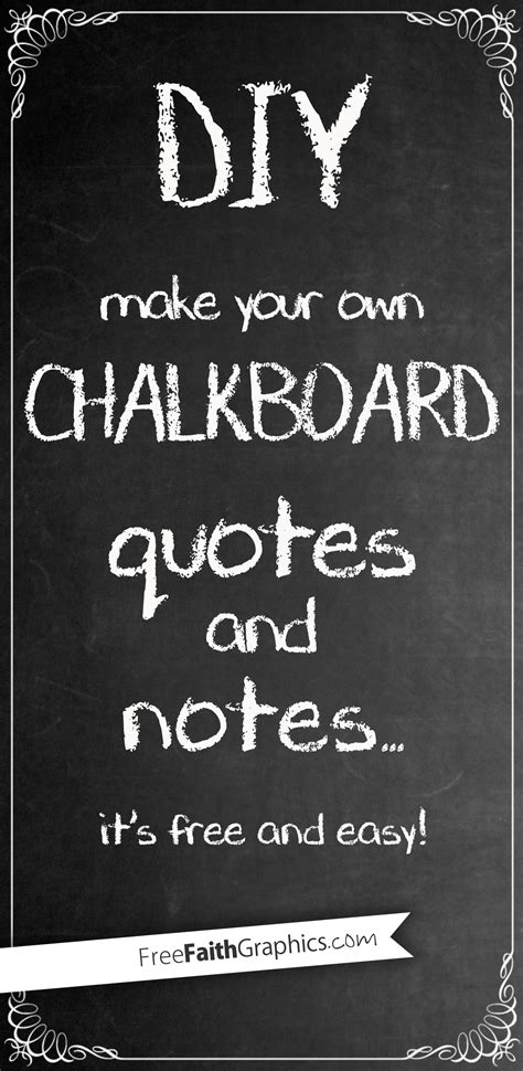diy chalkboard typography diy chalkboard quotes and notes freefaithgraphics