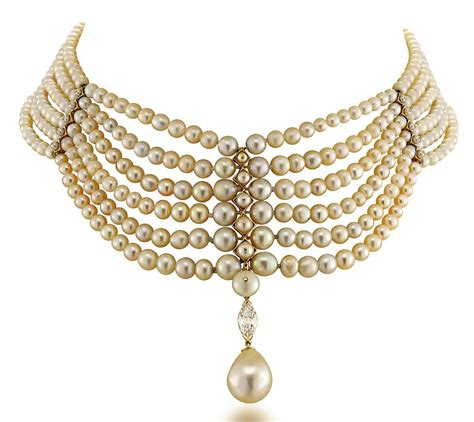 pearl uk a pearl and choker necklace jewelry