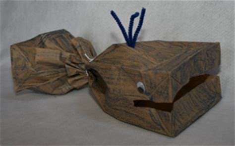 paper bag whale craft paper bag whale craft munchkins and