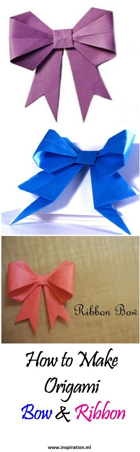 how to make ribbon origami best 25 origami bow ideas on oragami 3d