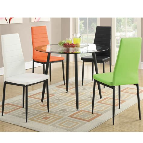 modern kitchen furniture sets 4 pc modern dining chairs set vibrant faux leather chairs kitchen room chairs ebay