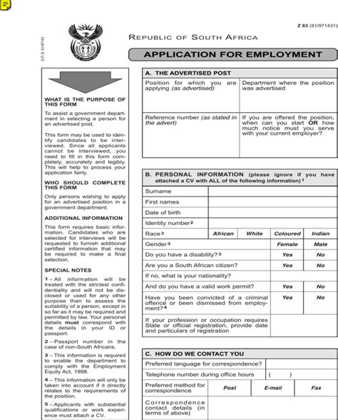 as an form free z83 application form for pdf