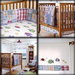 madras crib bedding pottery barn bermuda fish madras crib bedding set boy