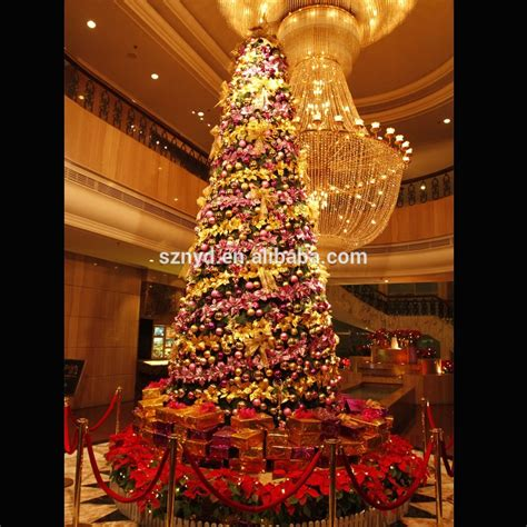 large tree decorations large artificial lighted indoor tree decoration