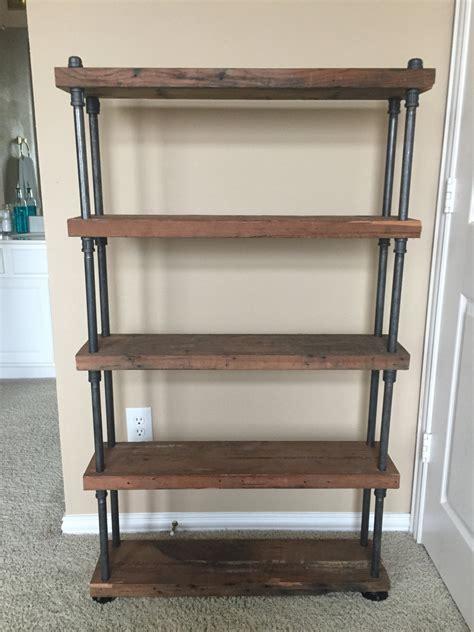custom wood shelves custom reclaimed wood shelving with industrial black steel
