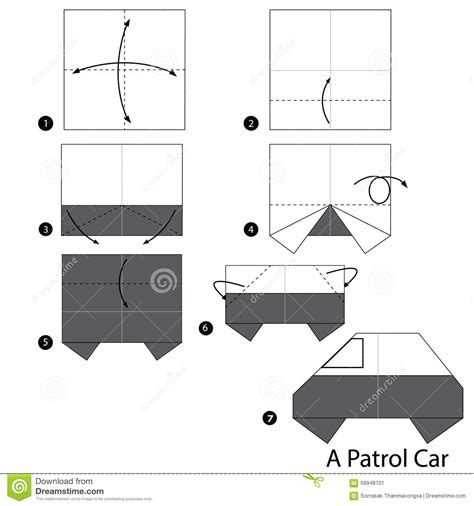 how to make a origami car step by step how to make origami a patrol car