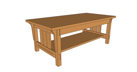 arts and crafts coffee table plans arts and crafts style coffee table pdf plan the wooden