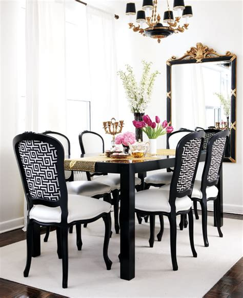 black and white dining room dining room style