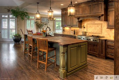 country kitchen designs with islands country kitchen design