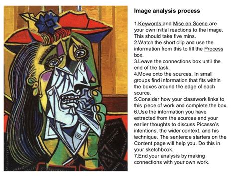 picasso paintings explained picasso weeping woman analysis pack
