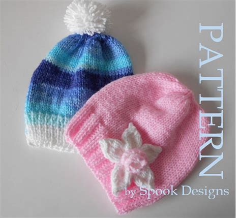 simple baby beanie knitting pattern easy baby beanie with knitted flower