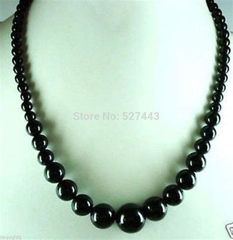 cheap bead necklaces wholesale lan032 gt gt beautiful 6 14mm black jade big
