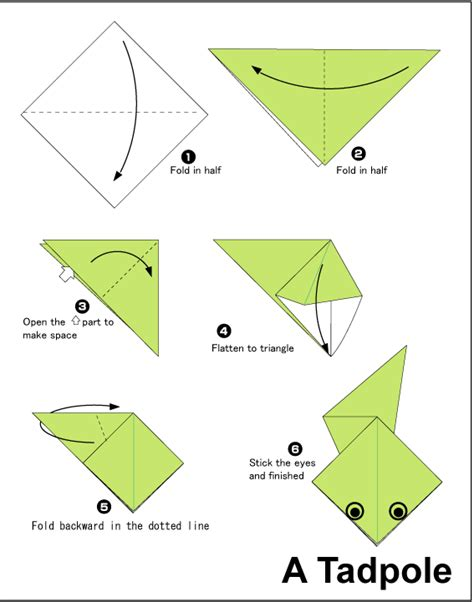 origami how to make tadpole easy origami for
