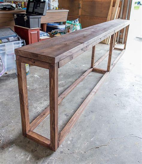 how to build a sofa table sofa how to build a sofa table diy the table