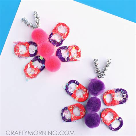 pop tab crafts for soda pop tab butterflies crafty morning