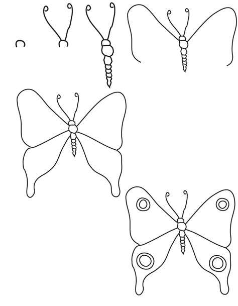 butterfly step by step drawing butterfly