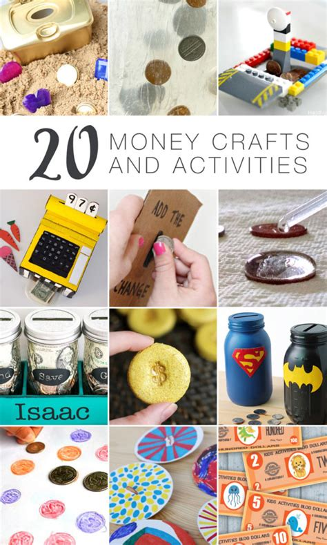 money crafts for 20 money crafts and activities for