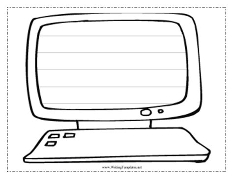 computer writing template writing template