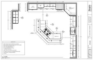 floor plans for kitchens sle kitchen floor plan shop drawings