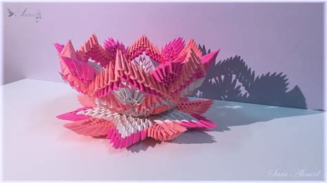 3d origami sunflower how to make 3d origami sunflower part2 versi on the spot