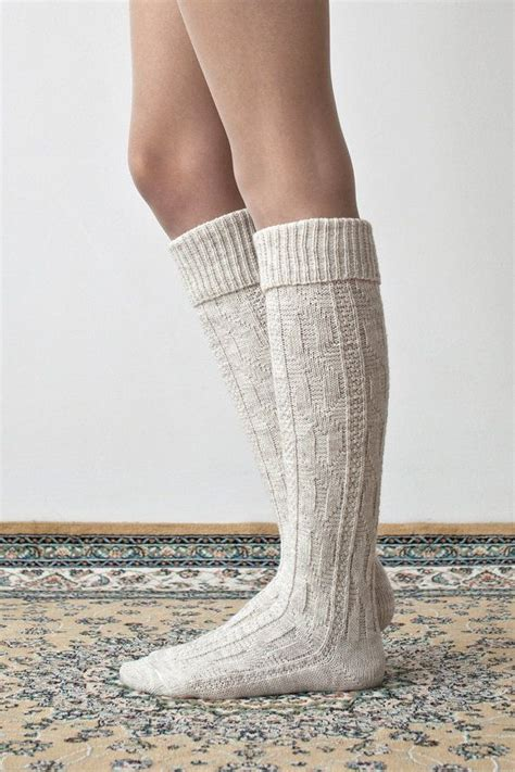 cable knit knee socks cable knit wool socks knee boot