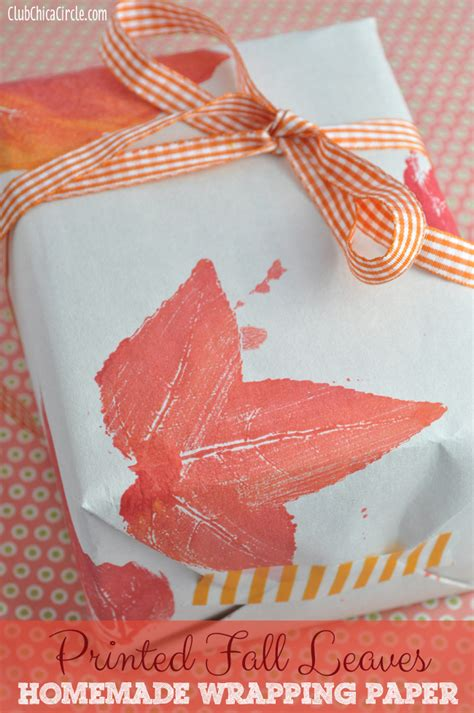 wrapping paper craft printed fall leaves wrapping paper my crafty