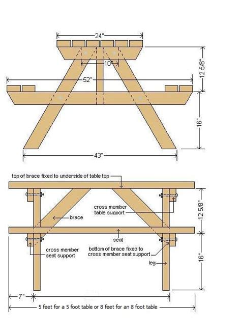 free picnic table plans picnic table plans plans for wood furniture