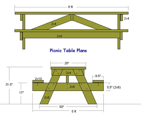woodworking plans picnic table free woodworking plans for outdoor furniture from