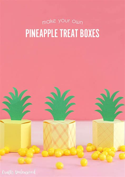 gift box template gift box template diy pineapple treat boxes consumer crafts