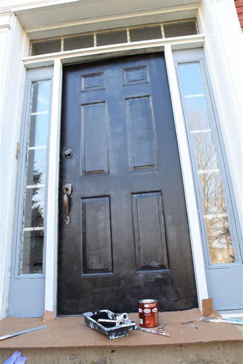 exterior door paint how to paint a metal exterior door my colortopia